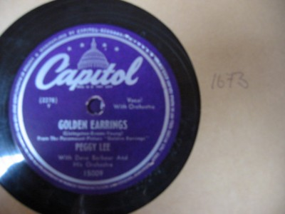 PEGGY LEE - GOLDEN EARINGS - CAPITOL USA 15009