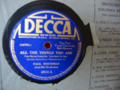 PAUL WHITEMAN - ALL IN FUN - DECCA