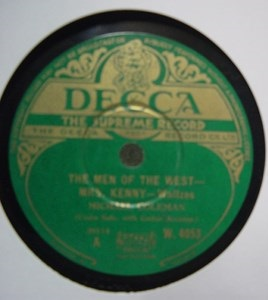 Michael Coleman - The Men of the West - Decca W.4053