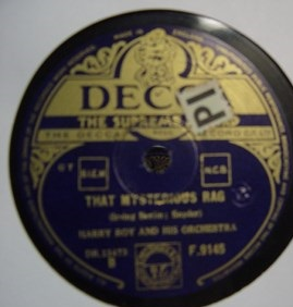 Harry Roy - Leicester Square Rag - Decca F.9145 UK