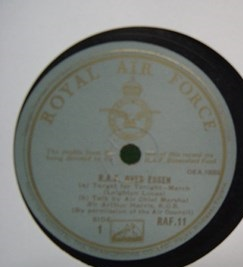 Royal Air Force - Over Essen - HMV Royal Airforce Label