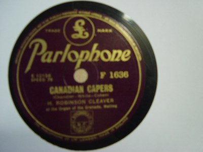 H. Robinson Cleaver - Canadian Capers - Parlophone F.1636