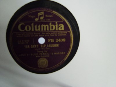 Jack Blue Pencil Warner - Yer can't 'elp laughin - Columbia FB