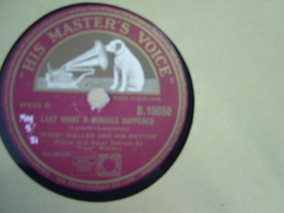 Fats Waller - What a pretty Miss - HMV B.10050 UK