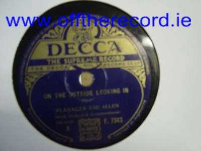 Flanagan & Allen - On the outside looking in - Decca F.7343