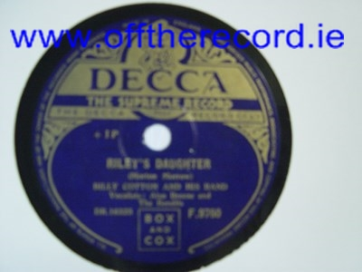 Billy Cotton - Sweet Violets - Decca F. 9760 UK