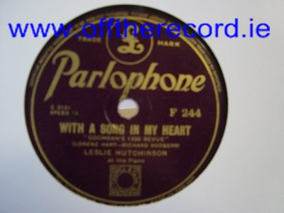 Leslie Hutchinson - The little things you do - Parlophone F.244