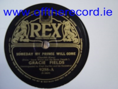Gracie Fields - Whistle while you work - Rex 9258 UK