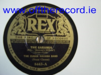 Cuban Havana Band - Side walks of Cubs - Rex 8443