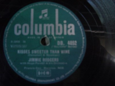 Jimmie Rodgers - Kisses sweeter than Wine - Columbia DB 4052