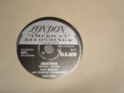 Pat Boone - Anastasia - London Records HLD. 8370