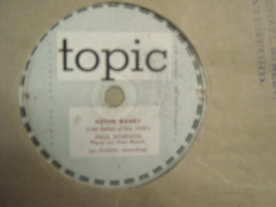 Paul Robeson - Kevin Barry - Topic Records TRC 96
