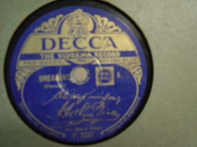 The Street Singer - Dreaming - Decca F.3337 UK