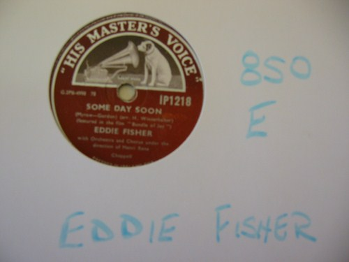 EDDIE FISHER - Some Day Soon - HMV IRELAND - 850