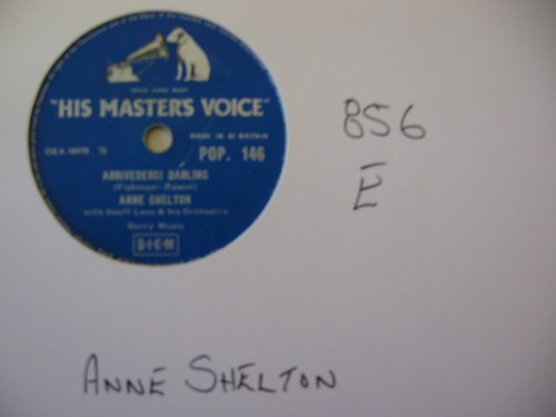 ANNE SHELTON - Song of the Trees - HMV UK - 856