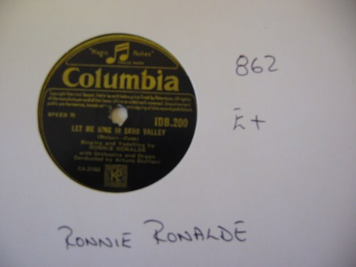 RONNIE RONALDE - COLUMBIA IRISH PRESS