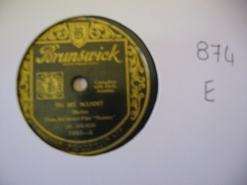 AL JOLSON - To my Mammy - BRUNSWICK UK - 874