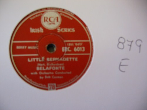 HARRY BELAFONTE - Scarlet Ribbons - RCA IRELAND - 879