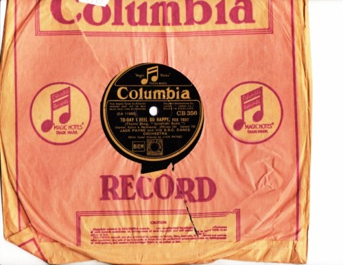 Jack Payne - Just one more chance - Columbia CB356