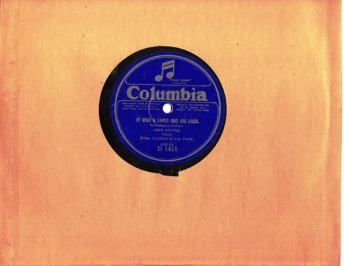 John Coates - It was a lover & his lass - Columbia D.1411