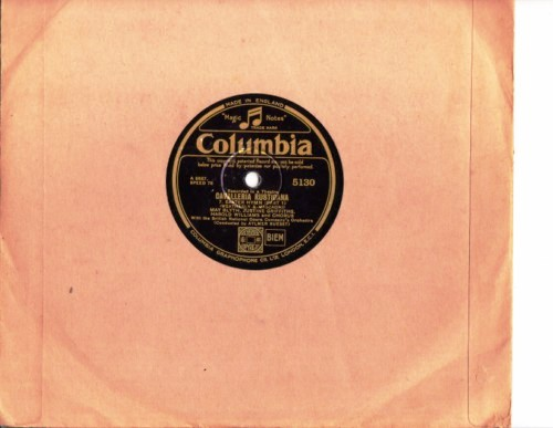 Blyth Griffiths Williams - Cavalleria Rusticana - Columbia 5130