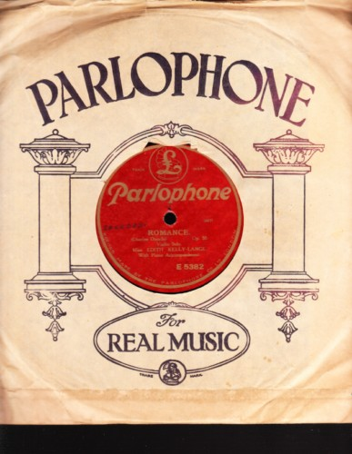 Edith Kelly-Lange - Violin Solo - Parlophone E.5382