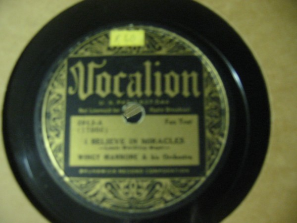 Wingie Mannone - Isle of Capri - VOCALION 2913