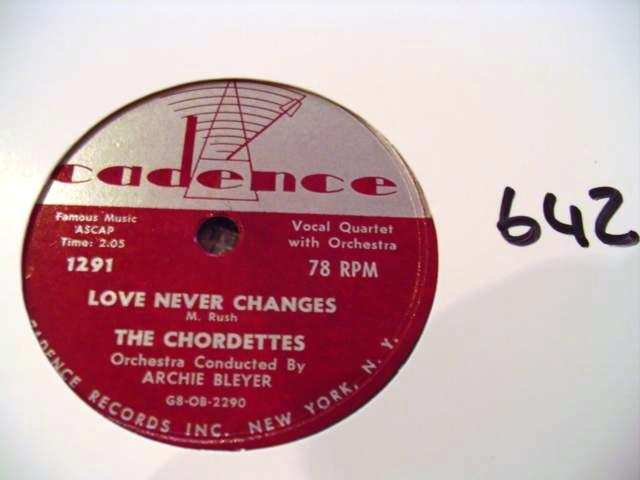 THE CHORDETTES - CADENCE 1291 - 642