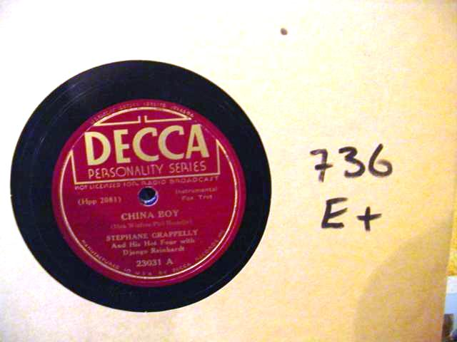 STEPHANE GRAPPELLY & DJANGO REINHARDT - DECCA 23031 - [ 736