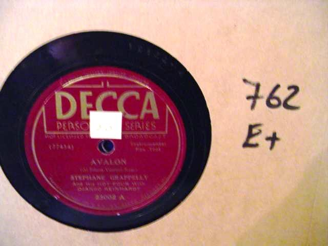 STEPHANE GRAPPELLY & DJANGO REINHARDT - DECCA 23002 - [ 762