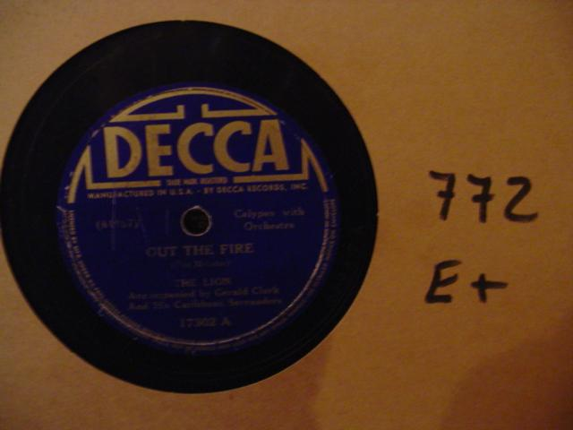 THE LION - CALYPSO DECCA 17302 - [ 772