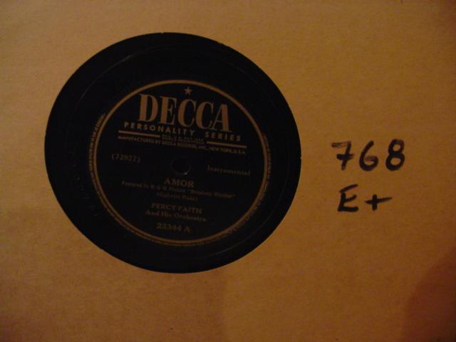 PERCY FAITH - DECCA 23344 - [ 768