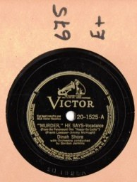 DINAH SHORE - Murder he says - VICTOR 20-1525