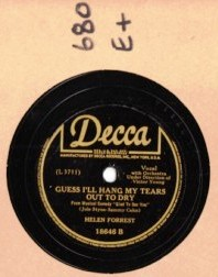 HELEN FORREST - Dont ever change - DECCA 18646