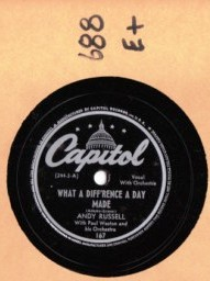ANDY RUSSELL - What a difference a day made - CAPITOL 167