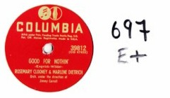 MARLENE DIETRICH & ROSEMARY CLOONEY - COLUMBIA 39812 - 697