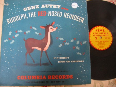RUDOLPH RED NOSE RAINDEER - GENE AUTRY - COLUMBIA { 100