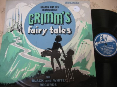 GRIMMS FAIRYTALES - DRAGON & GRANDMOTHER - BLACK WHITE { 101