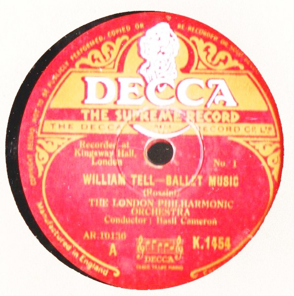 Rossini - William Tell Ballet Music - Cameron - Decca 2 x 78