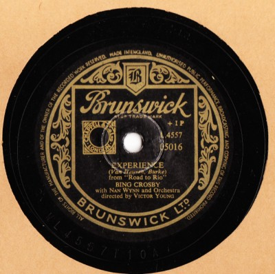 Bing Crosby - Experience - Brunswick UK