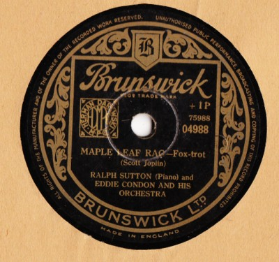 Eddie Condon & Lee Wiley - Wherever theres love - Brunswick UK