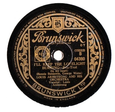 Louis Armstrong - Maybe its Because - Brunswick UK