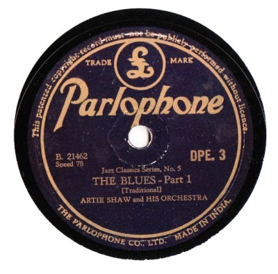 Artie Shaw - The Blues - Parlophone Made in India
