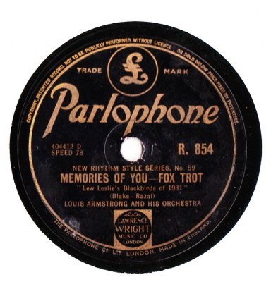 Louis Armstrong - Memories of you - Parlophone UK