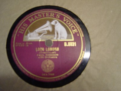 Paul Robeson - Loch Lomond - HMV B.8831 UK