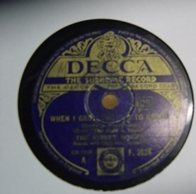 The Street Singer - In a little Gypsy Tea - Decca F.5624 UK