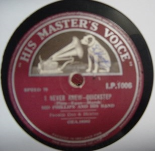 Sid Phillips - I never knew - HMV I.P. 1006 Irish