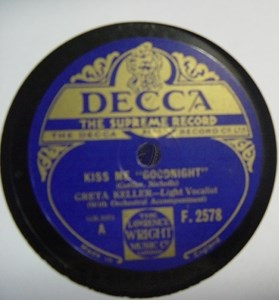 Greta Keller - Looking for You - Decca F.2578 UK