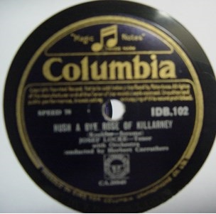 Josef Locke - The Old Bog Road - Columbia IDB 102 Irish