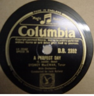 Sydney MacEwan - A Perfect Day - Columbia D.B. 2352 UK